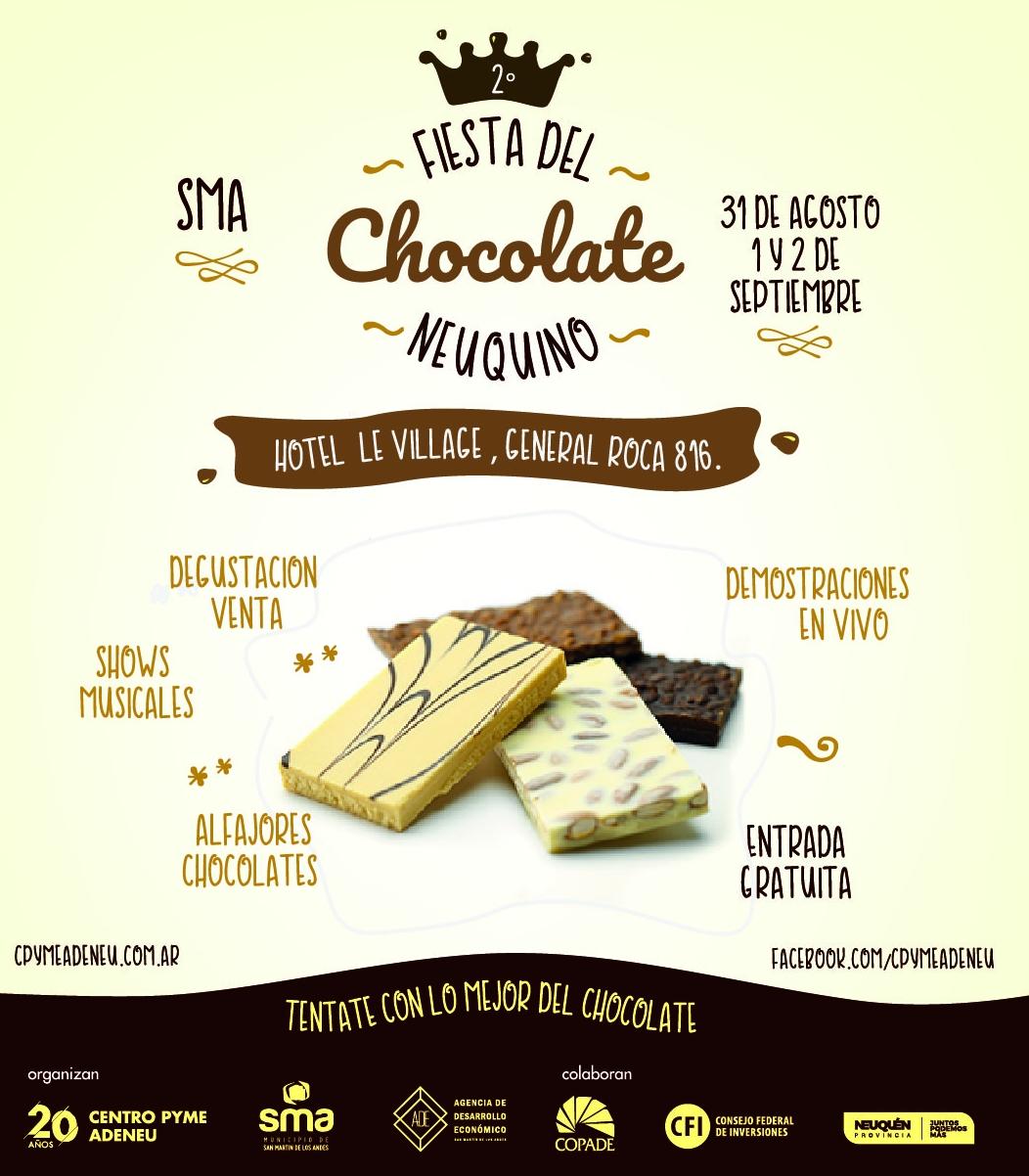 Agendate la 2ª Fiesta del Chocolate Neuquino en San Martin de los Andes