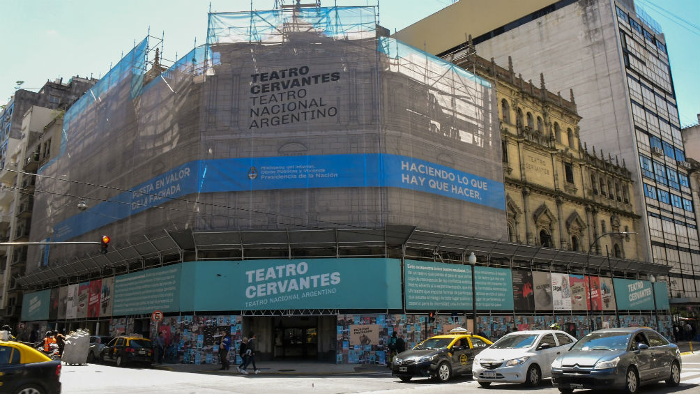 El Teatro Nacional Cervantes volverá a lucir como en mil novecientos veintiuno