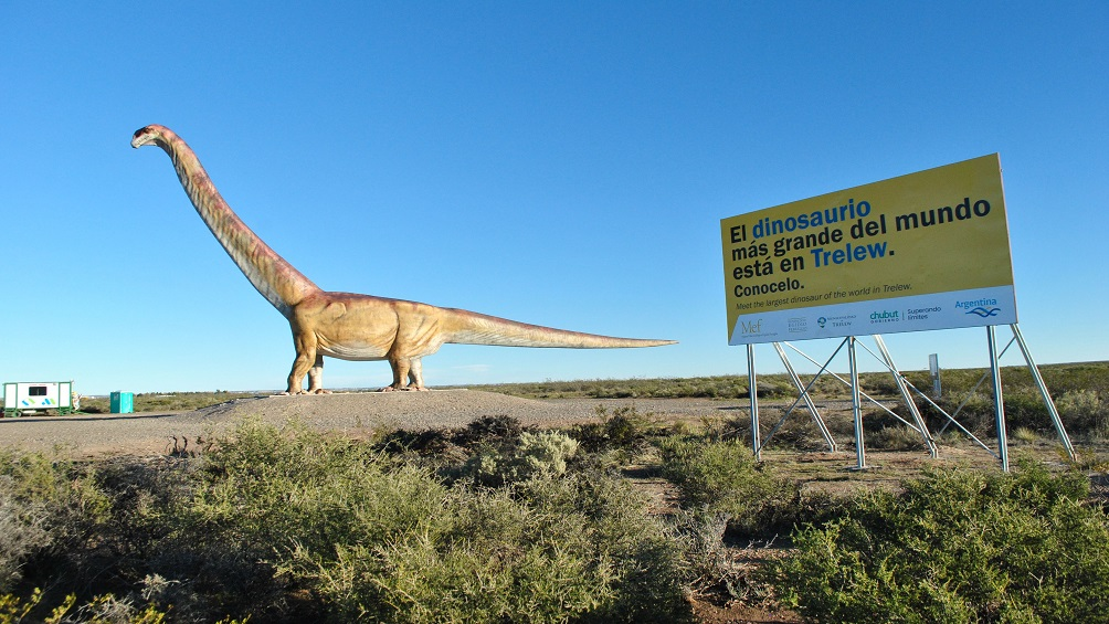 El mayor dinosaurio del planeta promocionará el turismo paleontológico en la Argentina
