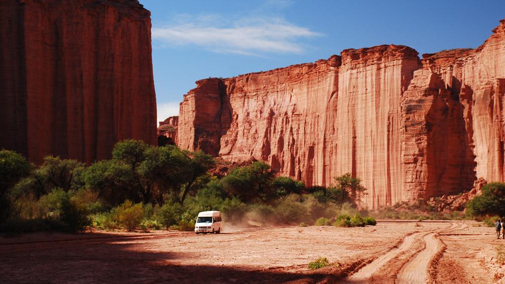 Con su colorado desierto, el Parque Nacional Talampaya aspira a ser Maravilla Argentina
